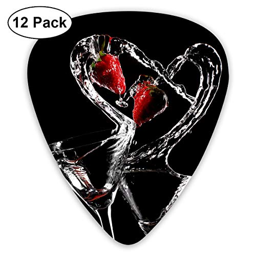 V5DGFJH.B Strawberry Love Cocktail Classic Guitar Pick Player's Pack for Electric Guitar,Acoustic Guitar,Mandolin,Guitar Bass ()