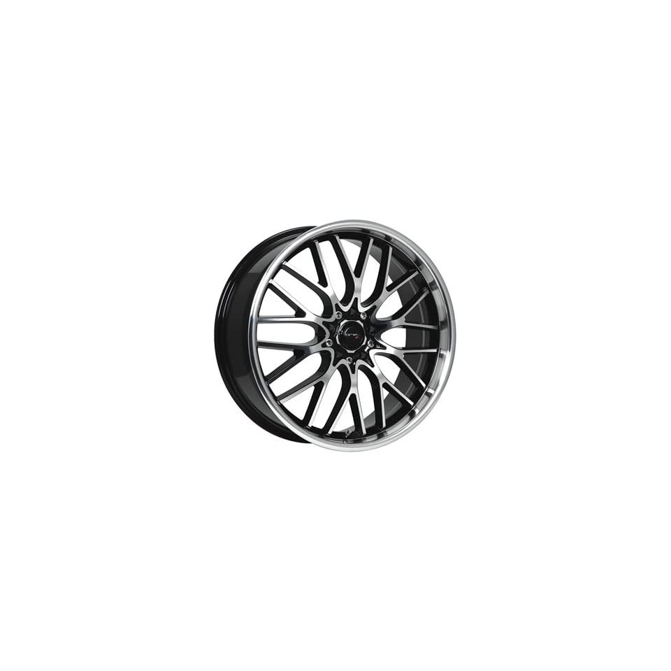 Drifz Vortex 16x7 Machined Black Wheel / Rim 5x100 & 5x4.5 with a 42mm Offset and a 73.00 Hub Bore. Partnumber 302MB 6701842