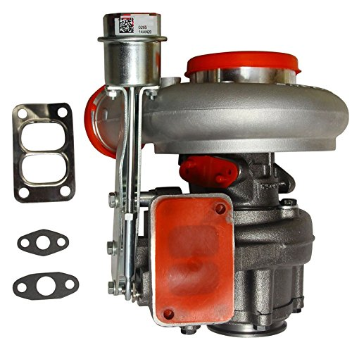 BLACKHORSE-RACING Diesel Turbocharger HX35 HX35W Turbo Charger with Internal Wastegate Turbine Fit for 1999 2000 2001 2002 Dodge Ram 2500 3500 5.9L Truck 6BT Cummins Engine - Wastegate Internal T3