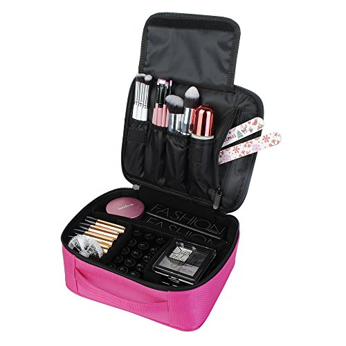 Portable Makeup Train Case Travel Size Cosmetic Bag Organize