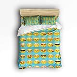 Where to Buy Emoji Bedding Anmevor Duvet Cover Set with Zipper Closure Bedding 4 Pieces Ultra Soft Hypoallergenic Microfiber - Funny Emoji Twin, 68 by 86 inch