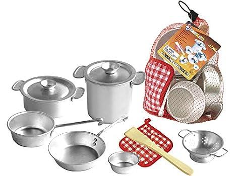 Accesorios De Cocina Aluminio de Juguete 10 Piezas: Amazon.es: Juguetes y juegos