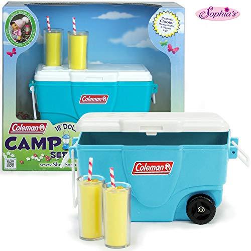 "Sophia's Coleman 18"" Doll Aqua Cooler & Lemonade Set from Sophia's"