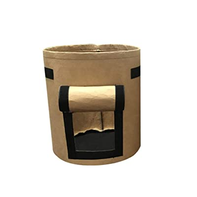 Plant Bag, Seedling Plant Grow Bags, Plants Grow Bags, Non-Woven Cloth Pot Plant Pouch Container Tomatoes Potatoes Grow Bag Garden Tool Brown: Sports & Outdoors