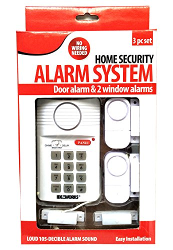 3PC Home Alarm System Programmable Key Pad w/Panic Button Easy Installation -  Unique Imports