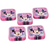 American Greetings Minnie Mouse Square Plate (40 Count), 7