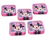 American Greetings Minnie Mouse Paper Dessert Plates, 40-Count