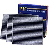 iFJF Cabin Air Filter CF10285 Includes Activated Carbon 87139-02090 for Toyota/Lexus / Scion/Subaru Premium against Bacteria Dust Viruses Pollen Gases Odors (Set of 3)