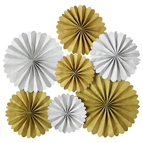 Mybbshower Gold and silver Pinwheel Backdrop Wedding Background Pack of - How Photo A Wall To Make Booth
