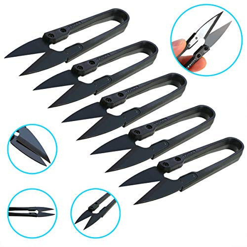 (5 Pieces Of Carbon Steel Bonsai Pruning Scissors Scissors Flower Scissors Household Sewing Scissors Cutting Tool)