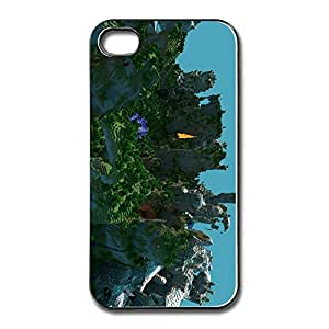 Minecraft Landscape 4 4s Case For IPhone White or White or Black Best PU Style