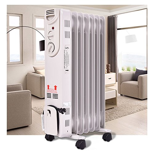 DreamHank 1500W Electric Oil Filled Radiator Space Heater DreamHank Oil Filled Heaters