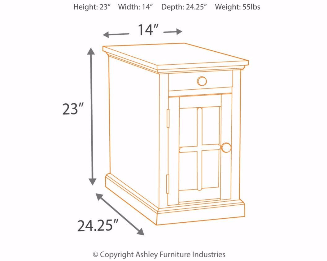 Ashley Furniture Signature Design - Laflorn Chair Side End Table - Rectangular - Dark Brown by Signature Design by Ashley (Image #7)