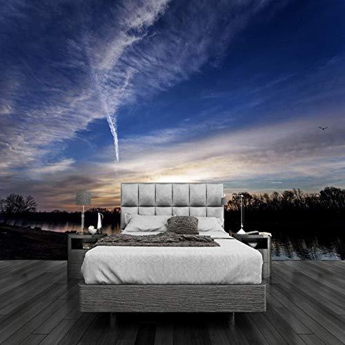 Abihua Mural Personalizado 3D Mural De Pared Hermosa Puesta De Sol Nubes Naturaleza Papel Tapiz Junto A La Cama Sala De Estar...