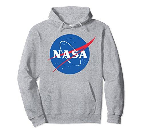 Unisex NASA Hoodie Sweatshirt - Officially Approved -Unisex Medium Heather Grey