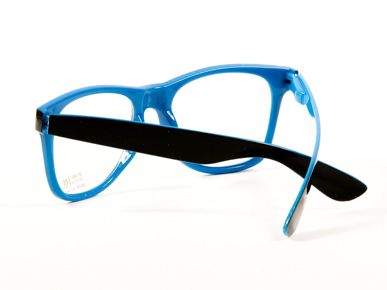 3fffc61b9346 Goson Vintage Hipster Nerd Blue Black two tone Frame Clear Lens Wayfarer 57  mm Glasses  Amazon.ca  Sports   Outdoors