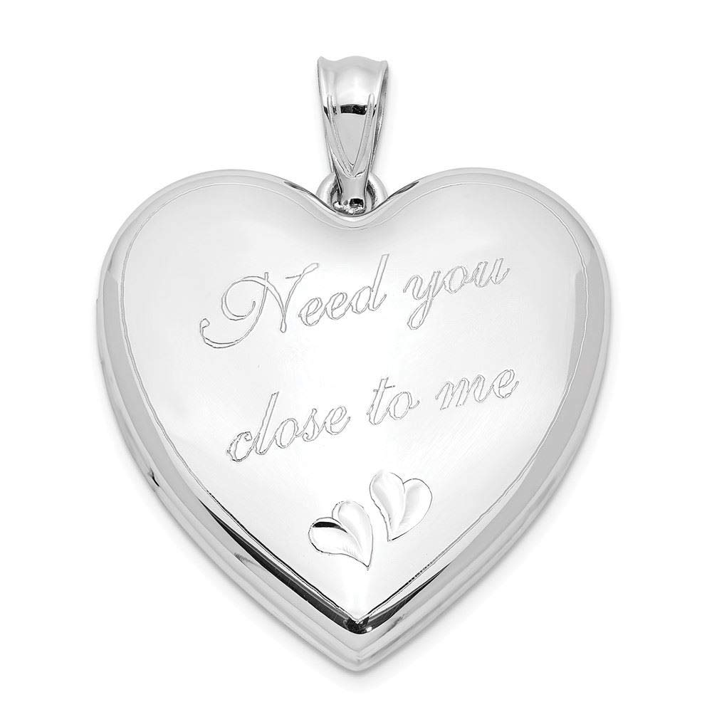 Sterling Silver Need You Close Ash Holder Heart Locket Charm Pendant