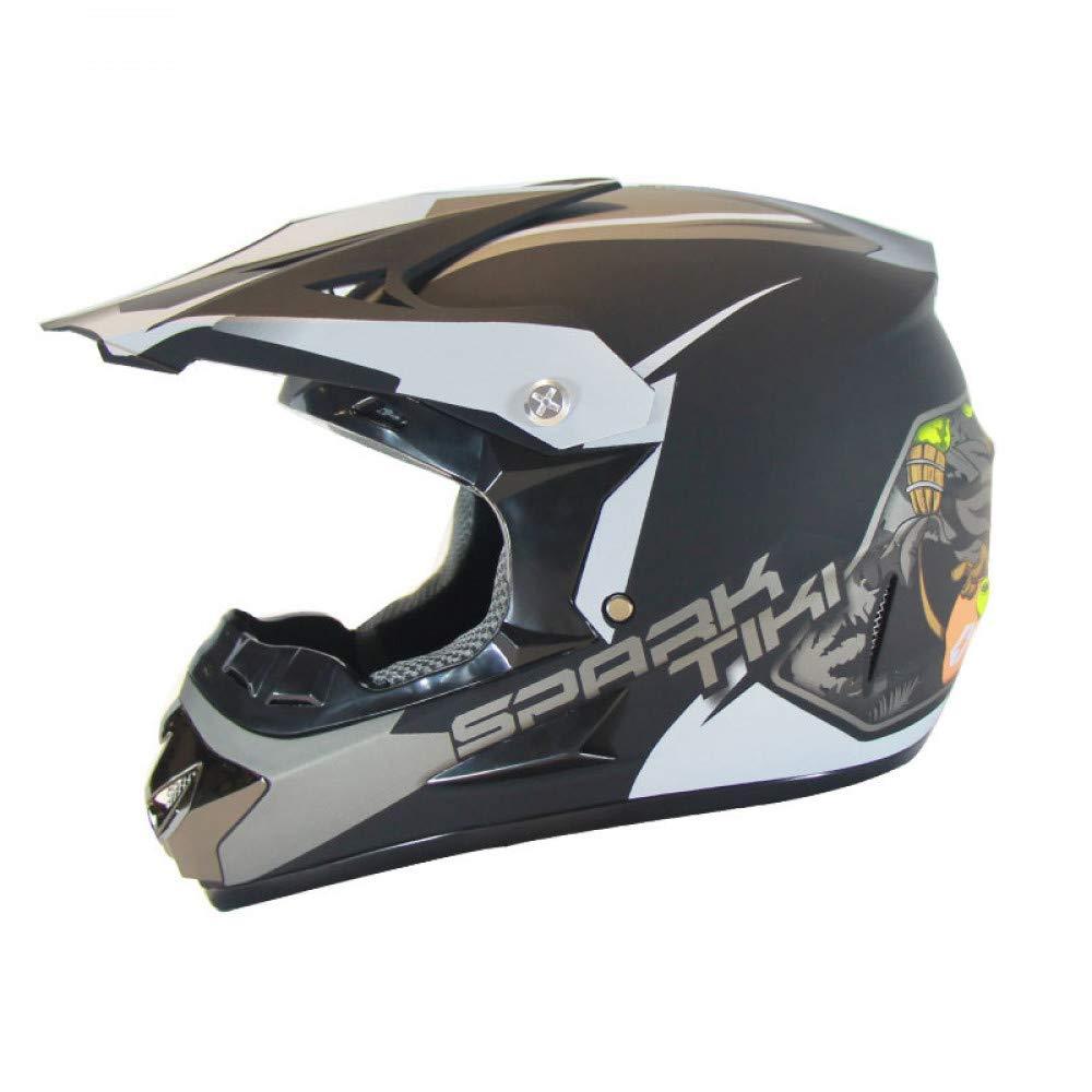 LOLIVEVE Motorrad Rennrad Cross Country Helm Cross Country Helm Elegante Schwarz Silber Ghost