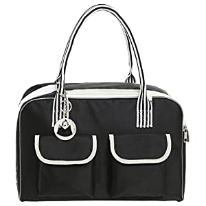 MG Collection Cat / Dog Designer Inspired Soft Sided Nylon Pet Carrier Travel Tote Hand Bag