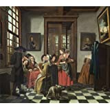 The high quality polyster Canvas of oil painting 'Jan Jozef Horemans II - Card Game, 18th century' ,size: 12x14 inch / 30x35 cm ,this High quality Art Decorative Prints on Canvas is fit for Gym artwork and Home gallery art and Gifts