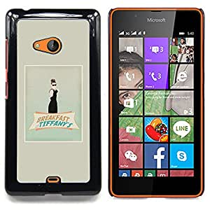 Stuss Case / Funda Carcasa protectora - Audrey Película Cine Clásico - Nokia Lumia 540