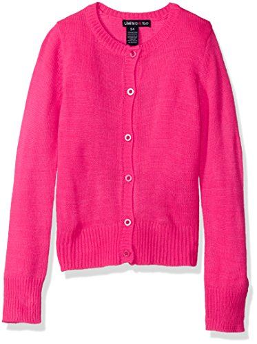 Limited Too Little Girls' Cardigan Sweater, Neon Hot Pink, Large - Pink Code Neon