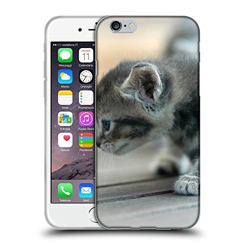 """Just Phone Cases Coque de Protection TPU Silicone Case pour // V00004258 Les premiers pas de chaton gris // Apple iPhone 6 6S 6G PLUS 5.5"""""""