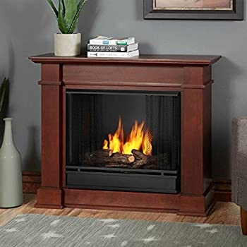 Amazon Com Chateau Corner Gel Fireplace In White Home