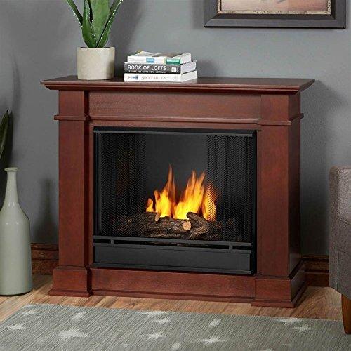 Real Flame Devin Indoor Gel Fireplace in Dark Espresso