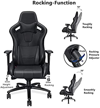 Anda Seat Dark Knight Premium Gaming Chair AD12XL-DARK-B-PV/C-PRO (Black):  Buy Online at Best Price in UAE - Amazon.ae