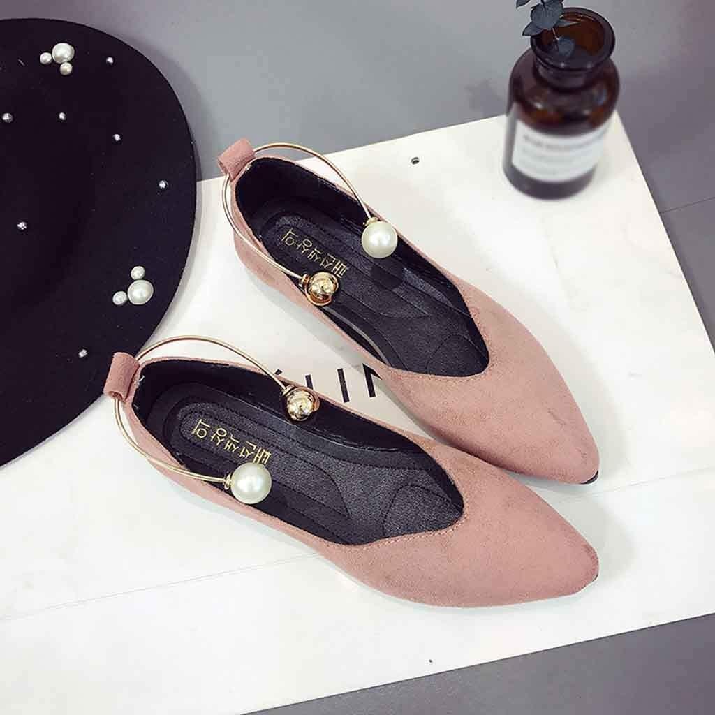 Zapato con Cordones Casual Zapatillas Mocasines Slipper C/ómodo Mujer Se/ñoras Plano Natural De Vaca Slip on Zapatos De Tac/ón Bajo Moda Ocio Damas