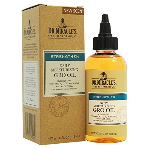 Dr. Miracle's Feel It Formula, Strengthen Daily Moisturizing Gro Oil, 4 Ounce