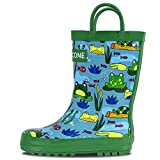 LONECONE-Rain-Boots-with-EasyOn-Handles-in-Fun-Patterns-for-Toddlers-and-Kids-Frog-Pond-Toddler-8