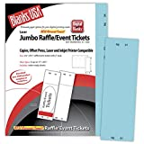 Jumbo Blue Raffle Tickets Paper - 2.75in. X 8.5in. - Pack of 500