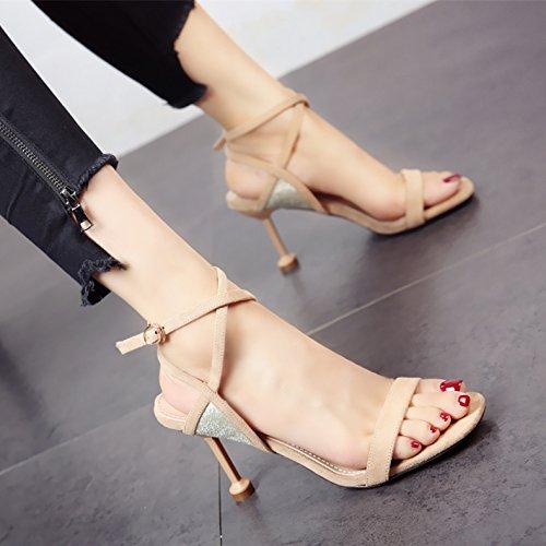 c Correas coincidentes Toe Sandalias de de YMFIE tacón Damas Zapatos Sexy Verano Nuevo Toe nYw6nqfAOX