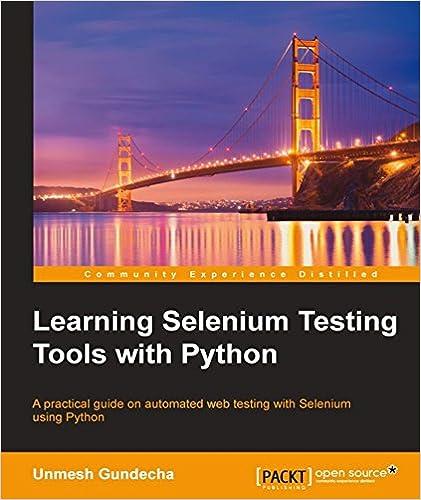 Learning Selenium Testing Tools with Python, Unmesh Gundecha