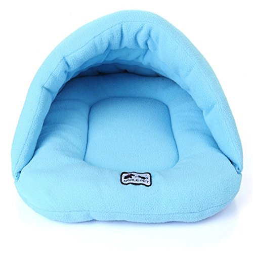 bluee Wenzhihua Warm pet nest Warm And Kennel Pet Nest, Four colors soft (color   bluee)
