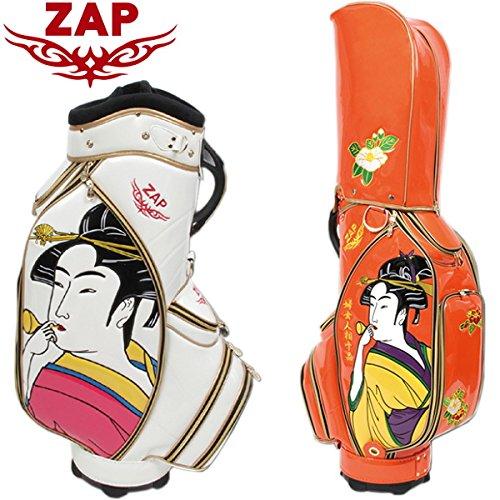 ZAP GOLF ザップゴルフ UKIYOE 浮世絵柄 キャディバッグ 9型 ZPCB003 (WH)