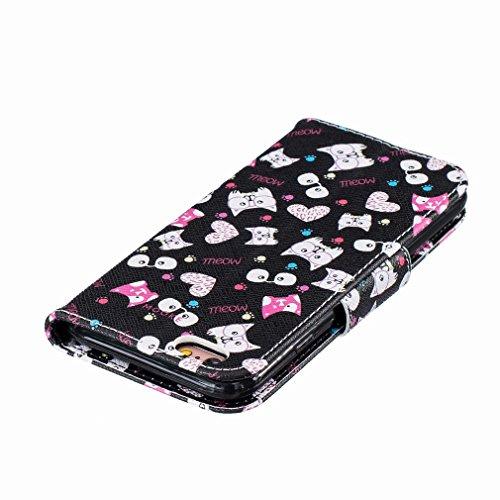Yiizy Apple IPhone 6 / IPhone 6s Funda, Gato Vasos Diseño Solapa Flip Billetera Carcasa Tapa Estuches Premium PU Cuero Cover Cáscara Bumper Protector Slim Piel Shell Case Stand Ranura para Tarjetas Es