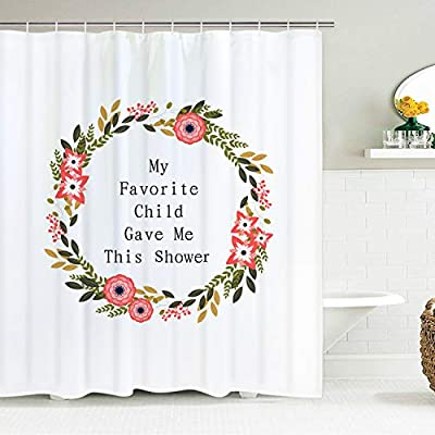 Bathroom Waterproof Fabric Shower Curtain Set Happy Mother/'s Day Mom and Baby