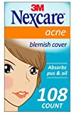 Nexcare Acne Cover, Invisible, Drug Free, 108 Count