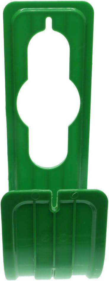 Green 8x25cm Durable Metal Spigot Hook Hose Holder Garden Hose Pipe Holder Hanger Wall Mounted Expandable Flexible Hose