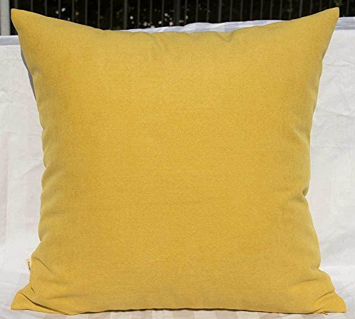Yellow Pottery - TangDepot Solid Wool-like Throw Pillow Cover/Euro Sham/Cushion Sham, Super Luxury Soft Pillow Cases - Handmade - Many Colors & Sizes Avaliable - (22