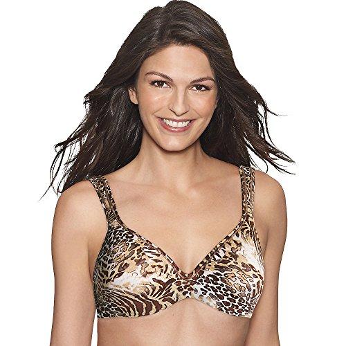 Hanes Women's Fit Perfection Underwire Bra, Jungle Leopard Print, 36D