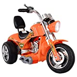 Orange Kids Ride On 3 Wheels Motorcycle 12V Battery Powered Electric Bicyle Toy