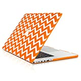 TopCase Chevron Series Ultra Slim Light Weight Rubberized Hard Case Cover for Macbook Pro 15