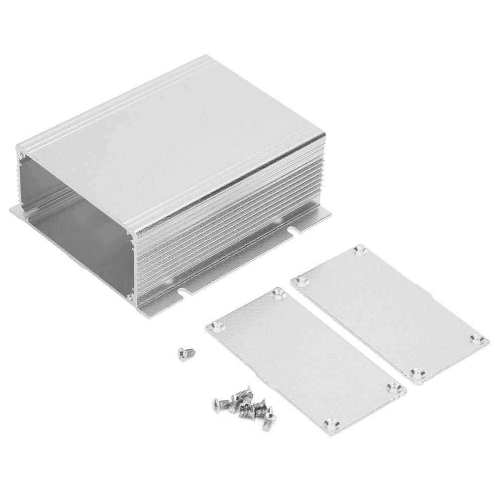 Nitrip Arena Plata Plata Blanco Aleación de aluminio Placa de circuito impreso Caja de instrumentos Caja Caso de proyecto electrónico: Amazon.es: Industria, empresas y ciencia