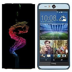 YiPhone /// Prima de resorte delgada de la cubierta del caso de Shell Armor - Agua Color Splash - HTC Desire Eye M910x