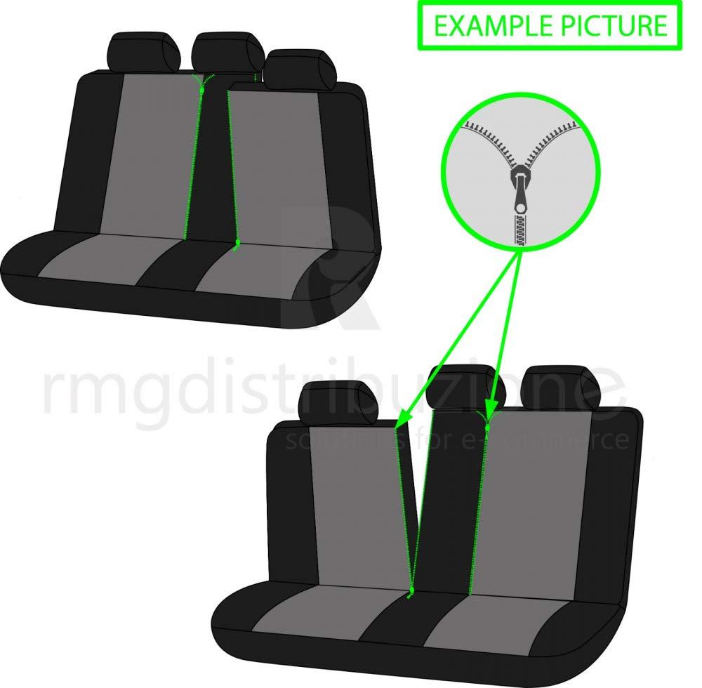 compatibili con sedili con airbag bracciolo Laterale 2015 - in Poi sedili Posteriori sdoppiabili R01S0465 rmg-distribuzione Coprisedili per Classe B Versione