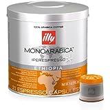 Illy iperEspresso MonoArabica Ethiopia Capsules Medium-bodied Coffee, 21-Count Capsule
